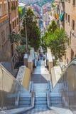 Street near Guel Park Royalty Free Stock Photography