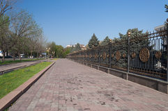 Street near White House in Bishkek royalty free stock photography