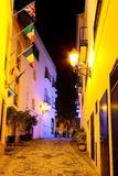 Street in Nerja at night. Spain Stock Photography
