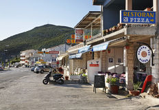 Street in Neum. Bosnia and Herzegovina.  Stock Photos