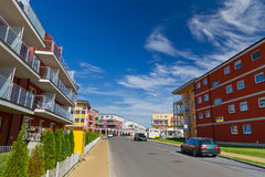 Street with new apartments in Poland Stock Photography