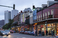 Street in New Orleans, Louisiana Royalty Free Stock Images