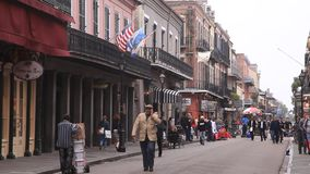Street in New Orleans, Louisiana, USA stock footage