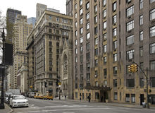 Street of New York. Central Park West, Manhattan. royalty free stock photography