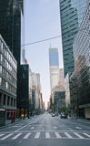 Street in New york City. Morning street in New York city Stock Photography