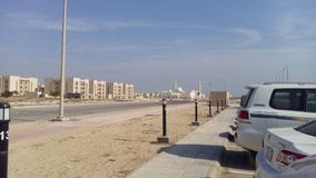 Street. Newly built street in Deffi District Jubail Saudi Arabia Royalty Free Stock Photo