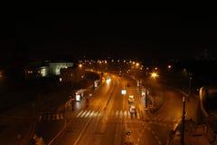 Avenue `Solidarności`, Warsaw stock photos
