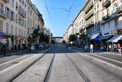 Street in Nice France Stock Image