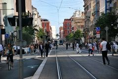 Street in Nice France Royalty Free Stock Photo