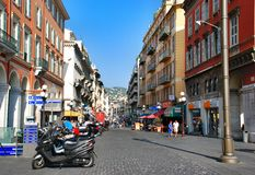 Street in Nice France Stock Photos