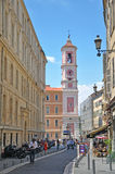In the street of Nice, France Royalty Free Stock Photos