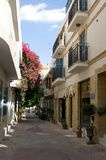 Street  in Nicosia, Cyprus. Royalty Free Stock Photo