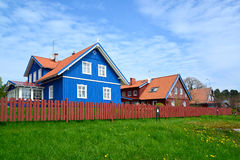 The street in Nida, Lithuania Stock Photo