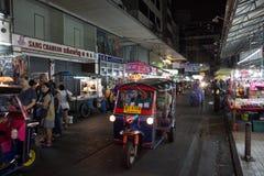 Street at Night in Bangkok, Thailand Royalty Free Stock Image