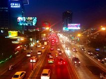Street. At night on changwattana road Stock Images