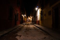 Street at nigh in San Miguel Stock Images