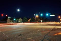 Street at Night. This image was taken in Colorado Springs, CO Royalty Free Stock Images