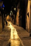 Alone. Street night light Royalty Free Stock Images