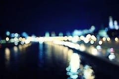 Street night lights background Stock Photos