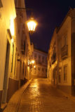 Street at night in the old town Royalty Free Stock Image