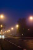 Street night scene Stock Photos