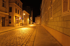 Street night scenes,Ceske Budejovice Royalty Free Stock Photos