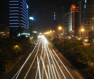 The street night scenic Guangzhou Royalty Free Stock Photography