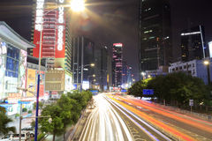 The street night scenic of guangzhou Stock Image