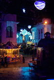 Street Night Tbilisi. Festive night streets of Tbilisi for the new year Royalty Free Stock Photo