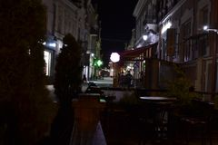 Street at night time. Nice photo of street at night time royalty free stock photos
