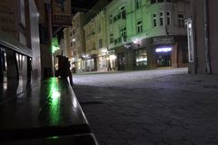 Street at night time. Nice photo of street at night time stock images