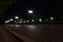Street at night time. Nice photo of street at night time stock photography