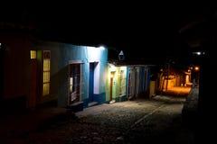Street at night, Trinidad, Cuba Stock Images