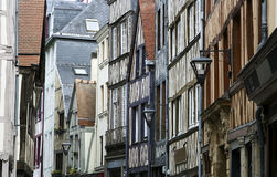 Street in Normandy Royalty Free Stock Photos
