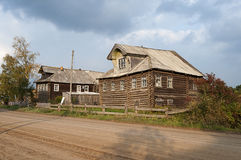 Street in the northern Russian village Stock Images