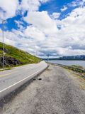 Street in Norway. A street through the mountains of norway Stock Photos