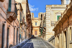 Street in Noto Royalty Free Stock Images