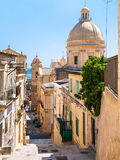 Street in Noto city in Sicily Royalty Free Stock Photography
