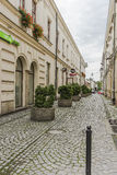 Street in Nowy Sącz city Royalty Free Stock Images