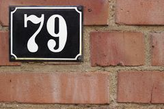 Street number 79 royalty free stock images