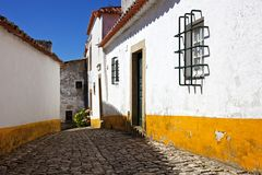 Street in Obidos Stock Photography