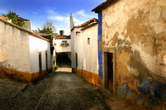 Street, Obidos. Photo of a Street in the midieval city of Obidos, Portugal stock image