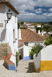 A street of Obidos city Stock Photos