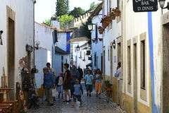 Street in Obidos Royalty Free Stock Images