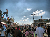 Street at Oktoberfest Festival (HDR) Royalty Free Stock Photo