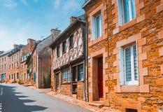 Street Old Breton Town Treguier, France Stock Photo