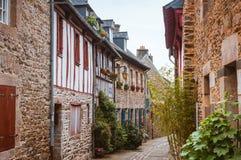Street Old Breton Town Treguier, France Stock Images
