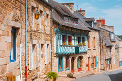 Street old Breton town Treguier, France Stock Images