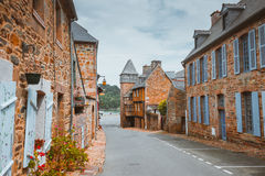Street old Breton town Treguier, France Royalty Free Stock Photos