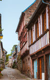 Street old Breton town Treguier, France Stock Photo